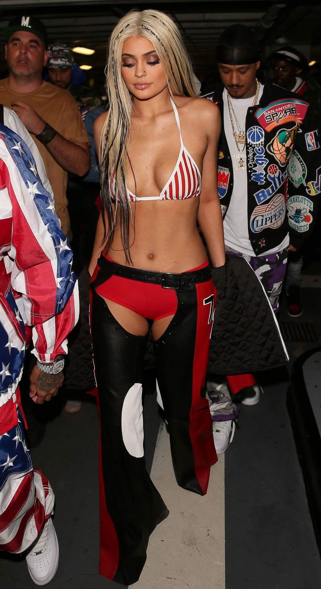 Kylie Jenner – Sexy Christina Costume