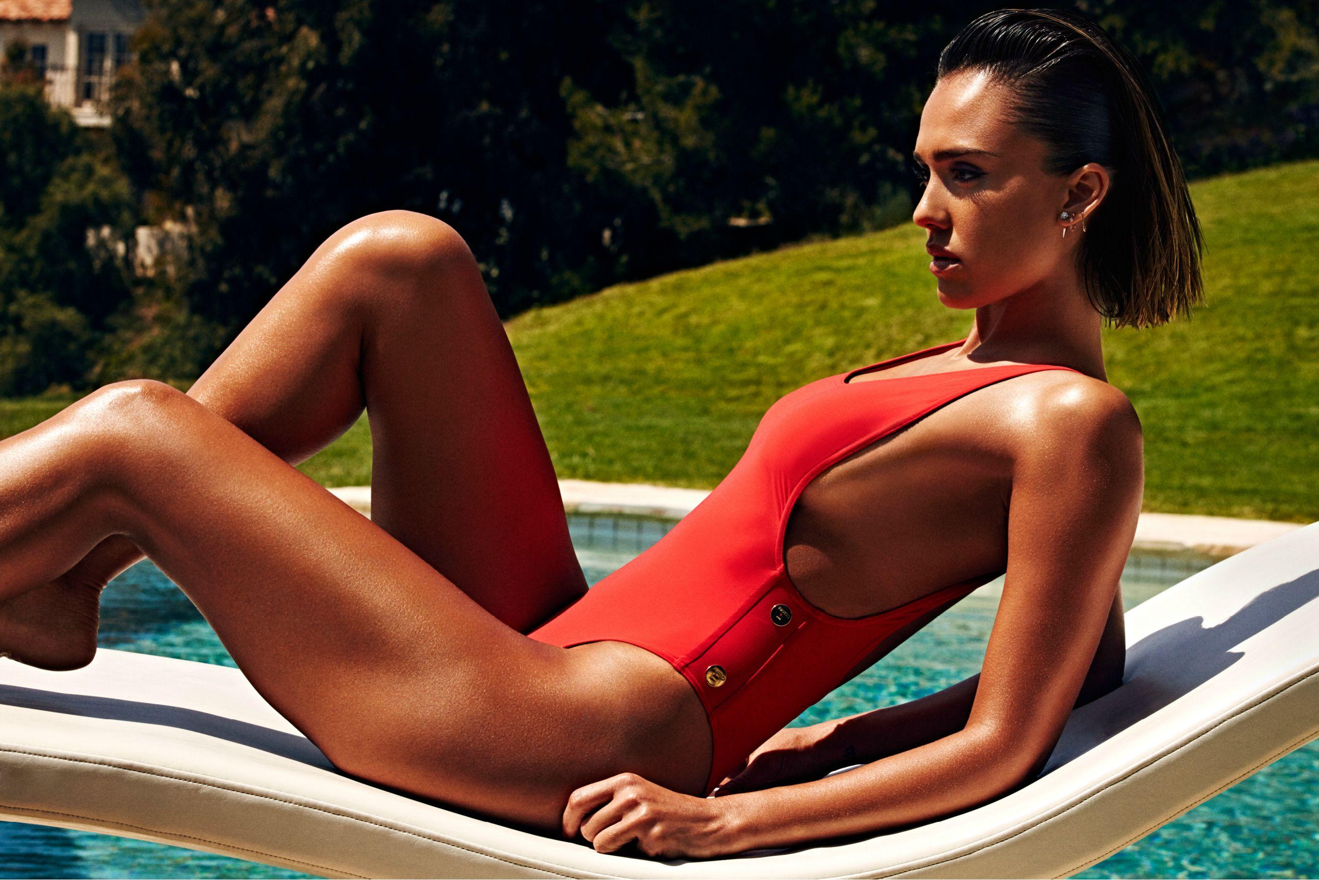 Jessica Alba Bikini Photoshoot For Shape Magazine