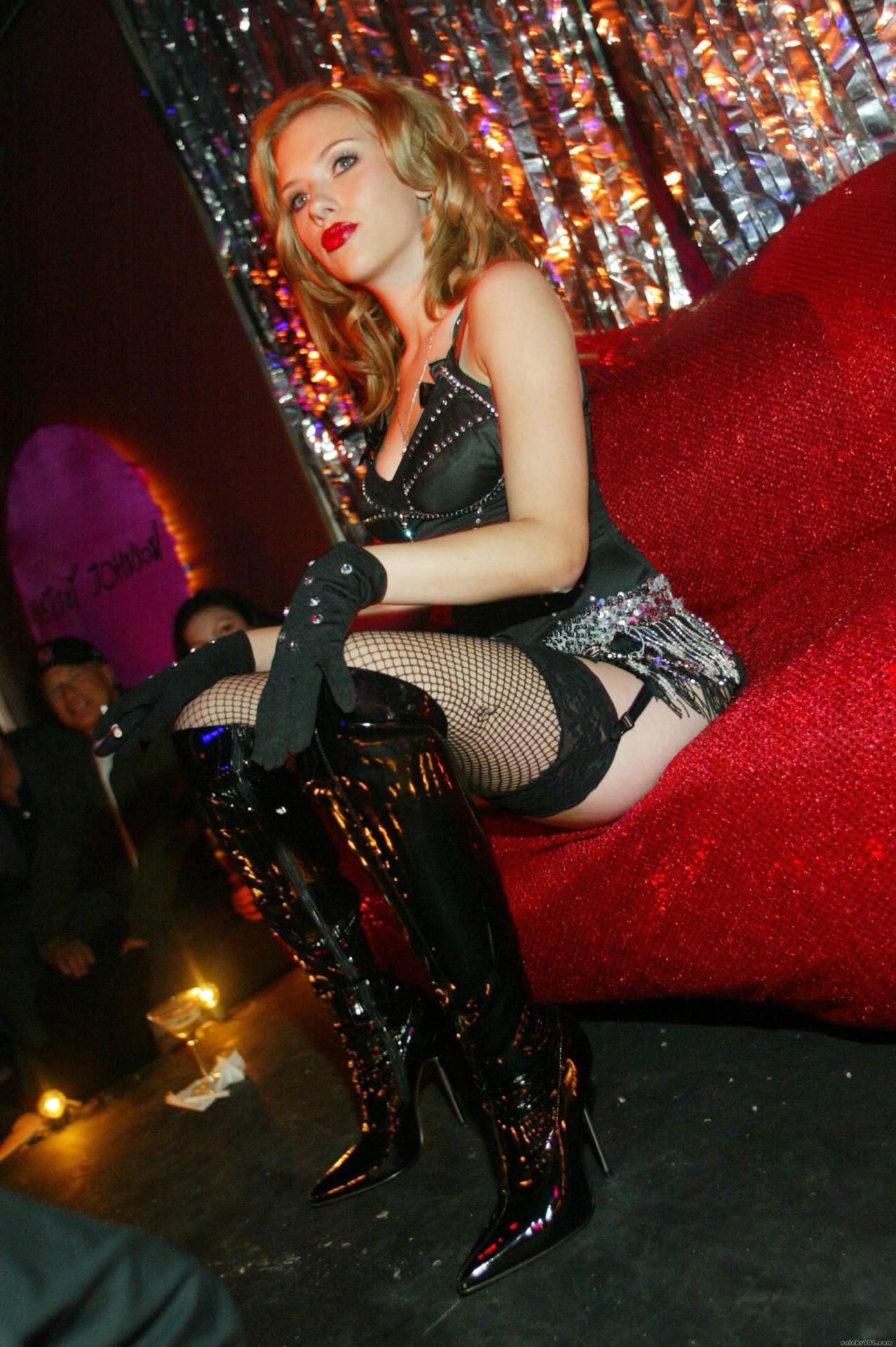 Scarlett Johansson At A Party