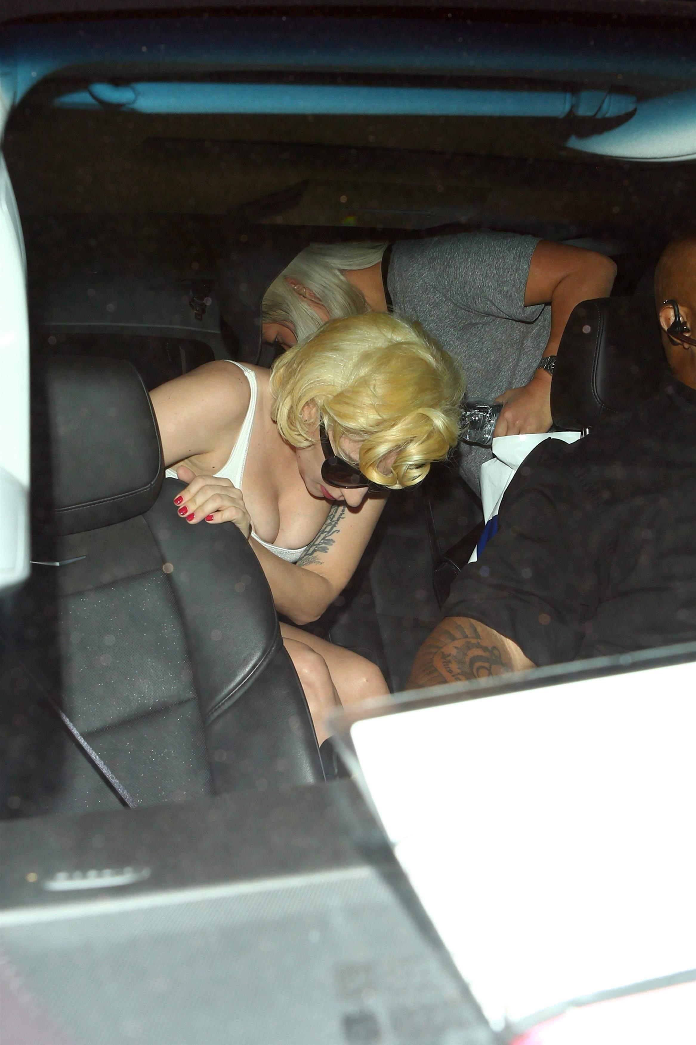 Lady Gaga Leaving Dodger Stadium 10-24-17