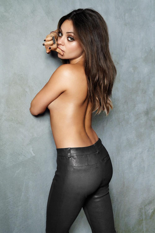 Mila Kunis In Leather Pants