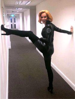 Amanda Holden Dressed As Black Widow