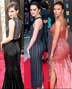 Battle Of The Booty: Emma Watson Vs Daisy Ridley Vs Scarlett Johansson