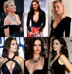 Beauties In Black: Scarlett Johansson, Gal Gadot, Brie Larson, Hayley Atwell, Eva Green, Anne Hathaway