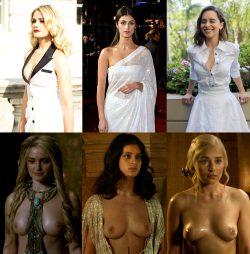 Best Fantasy Series Tits On/Off: Alicia Agneson , Anya Chalotra , Emilia Clarke