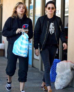 Chloe Moretz & Kristen Stewart Out & About In L.A. Yesterday