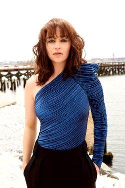 Emilia Clarke With Bangs