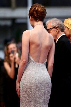 Emma Stone Backless Dress