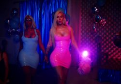 Iggy Azalea – In A Skin Tight Pink Latex Dress