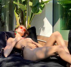 Kaia Gerber Bikini Bottoms Only