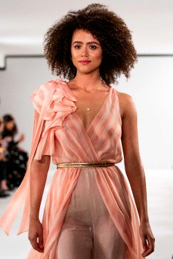 Nathalie Emmanuel See-through At London Fashion Week