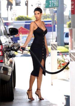 Nicole Murphy Pumping Gas