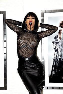 Rihanna Mesh Top 2014