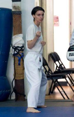 Rooney Mara Practicing Martial Arts