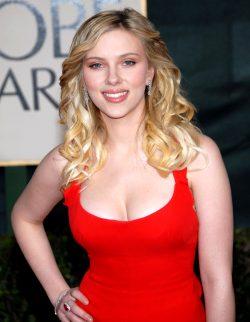 Scarlett Johansson In The Red Dress